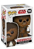 Фигурка Funko POP! Bobble: Star Wars: The Last Jedi: Chewbacca w/ Porg 14748 купить на официальном сайте Wacko Shop